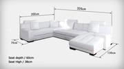 Модульный диван из итальянской кожи по цене текстиля