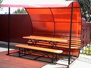 Изготовляем на заказ беседки,  качели,  металлические двери,  скамейки.