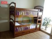 Двухъярусная кровать из дерева + бесплатная доставка